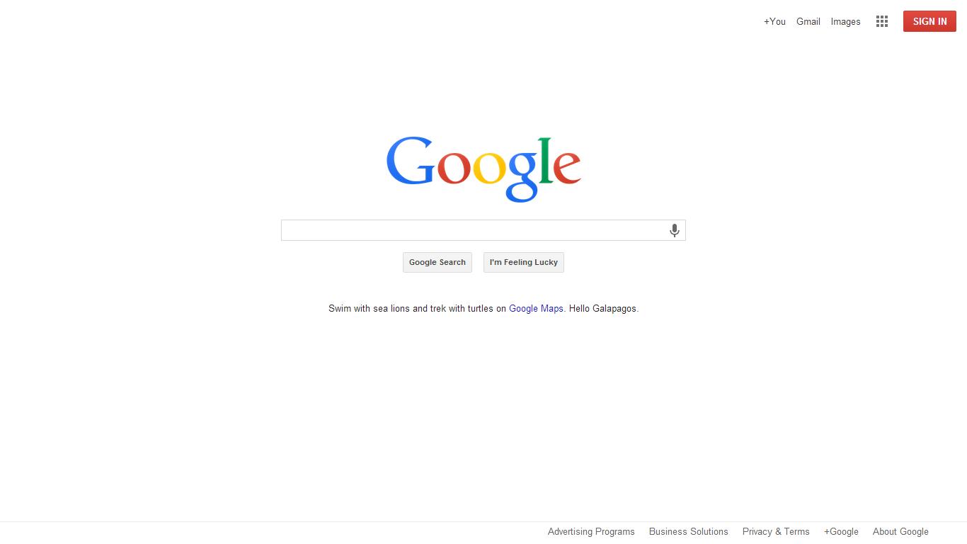 La thorie de Google Evolution de la homepage Google de