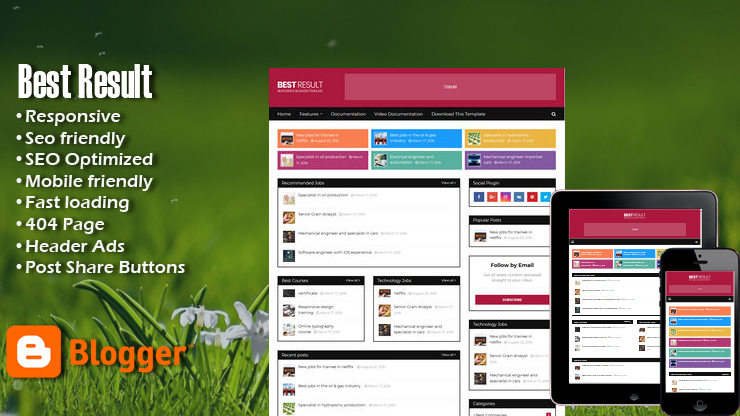 Best Result Premium Responsive Blogger Template