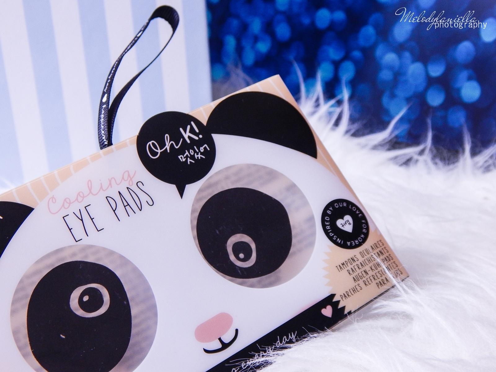 16 Oh! K Life koreańskie kosmetyki i gadżety słodkie dziewczęce dodatki maska do twarzy panda kosmetyczka w kształcie pandy lodowe płatki chłodzące okłady na oczy przeciw sińcom jak pozbyć się sińców pod oczami