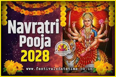 2028 Navratri Pooja Date and Time, 2028 Navratri Calendar