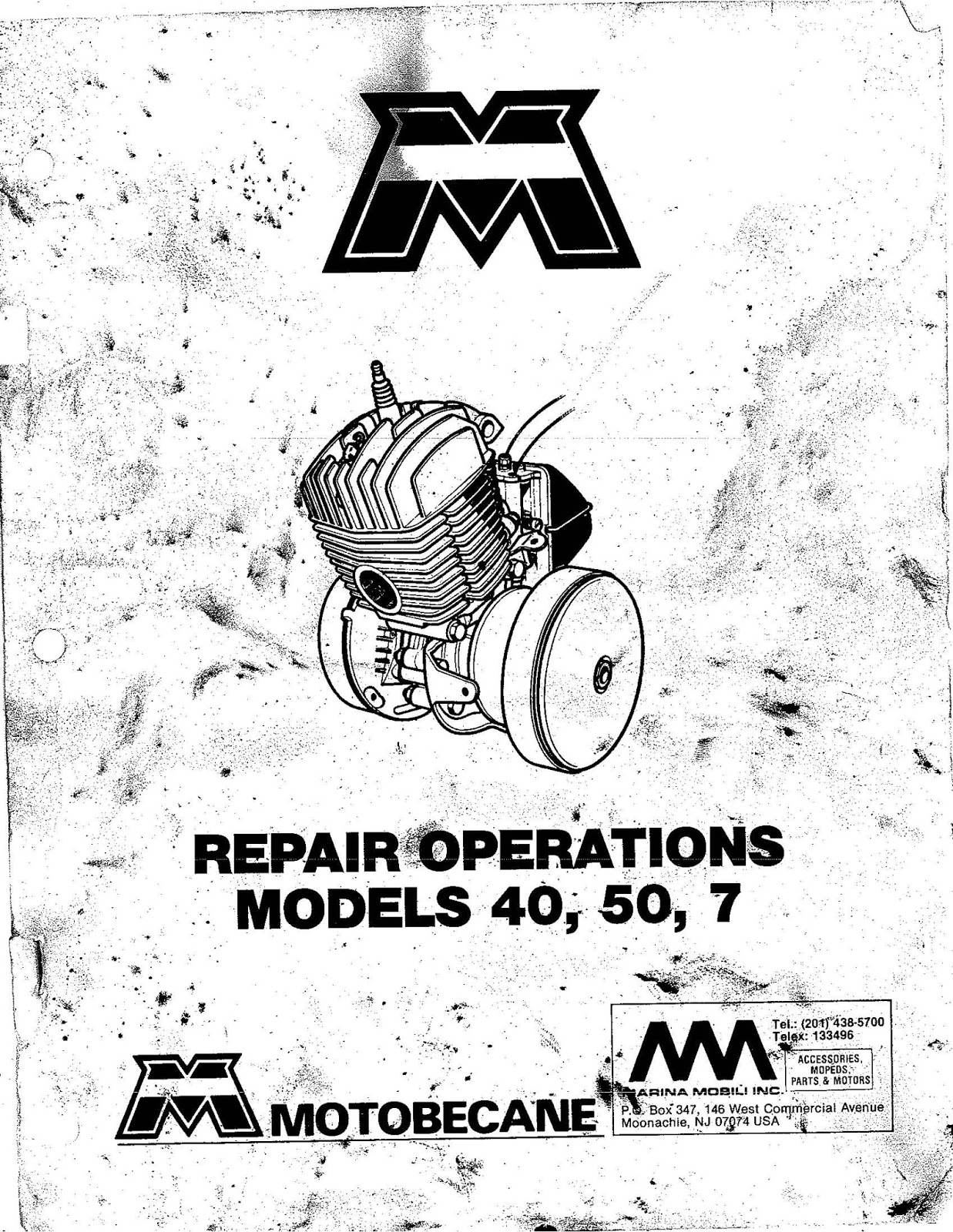 OB1 Repairs: Motobecane Service Manual