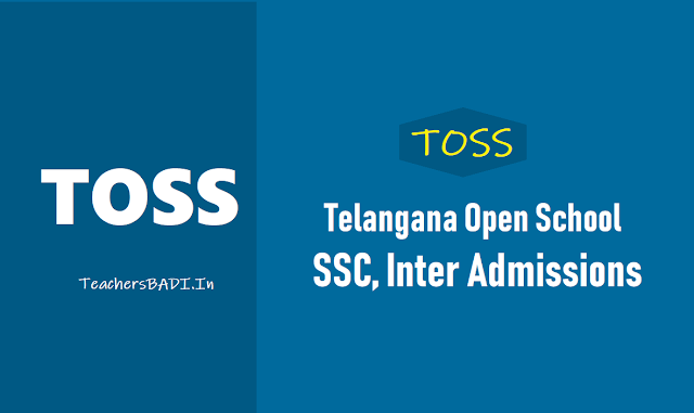 TOSS SSC Inter Admissions