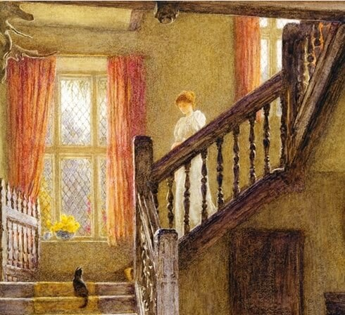 Helen Allingham The staircase