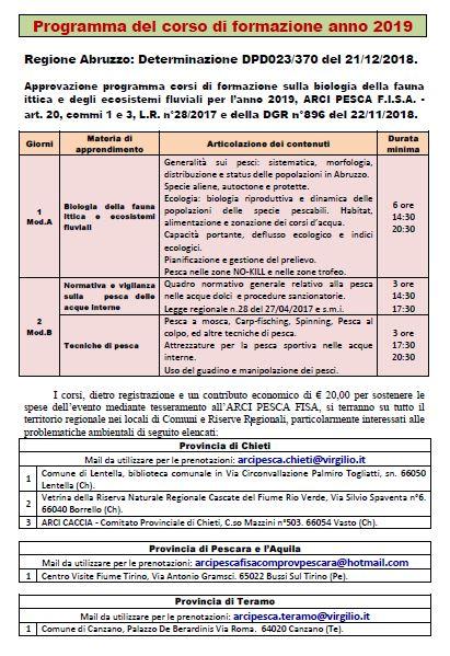 Calendario Regionale Abruzzo.Arci Pesca F I S A Comitato Provinciale Di Chieti