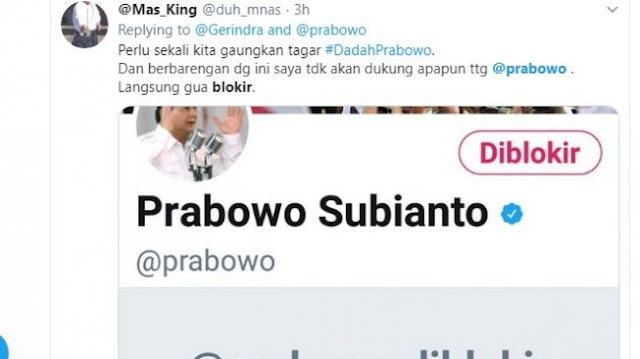 Ketemu Jokowi, Pendukung yang Kecewa Ramai-ramai Blokir Akun Prabowo