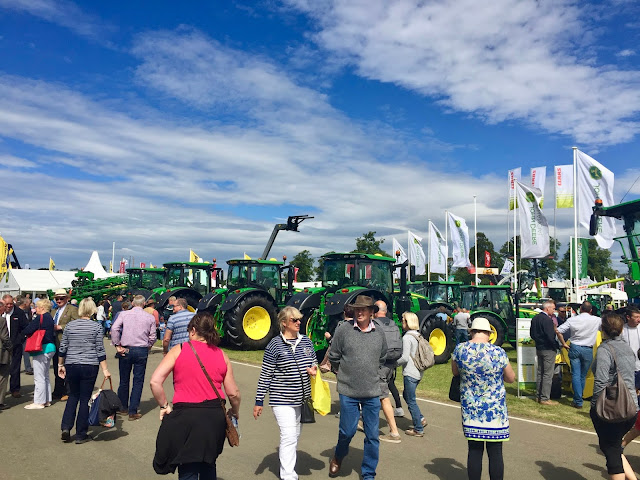 Agricultural area at the Royal Highland Show, Edinburgh, Scotland