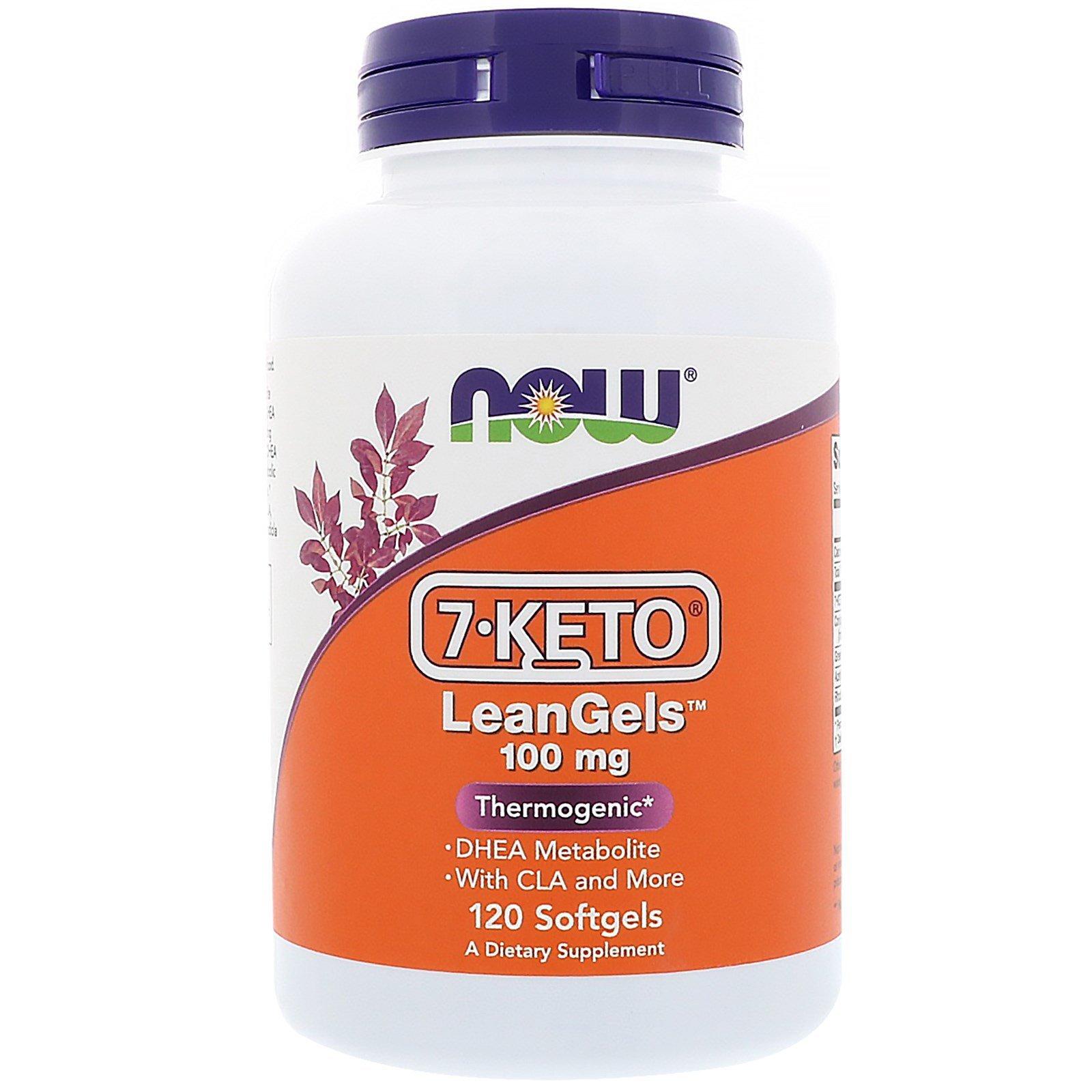Now Foods, 7-Keto LeanGels, 100 мг, 120 мягких желатиновых капсул
