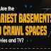 Scariest Basements and Crawl Spaces in Movies & TV #infographic