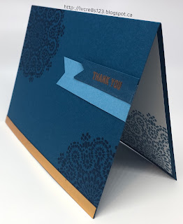 Linda Vich Creates: Clean and Simple Thank You. An elegant mandala-stamped card trimmed with Copper Foil.