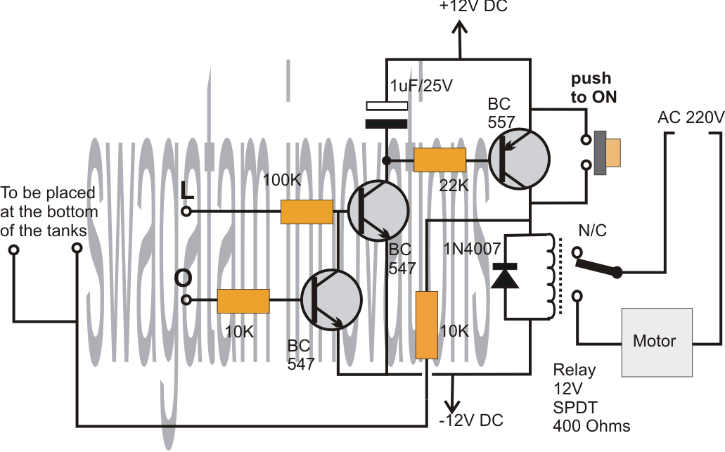 the circuit functioning may be understood with the following points