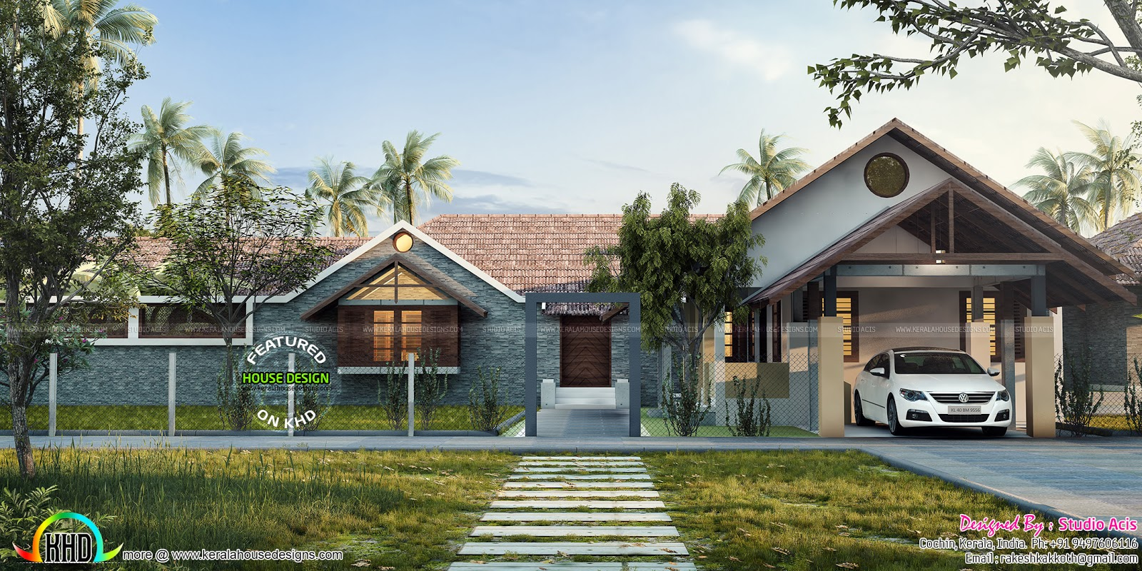 luxury one floor home with pool kerala home design keralahousedesigner com house ponds and swimming pools