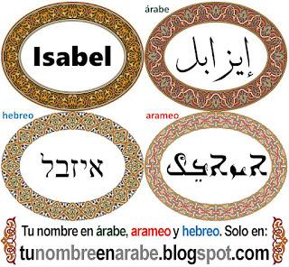 Nombre de Isabel en hebreo para tatuajes