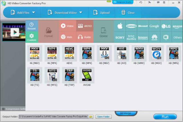 تحميل محول صيغ الصوت والفيديو HD Video Converter Factory للكمبيوتر
