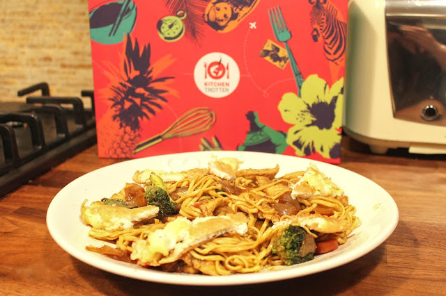 Mie Goreng Indonesian meal from kitchen trotter exotic cuisine subscription box