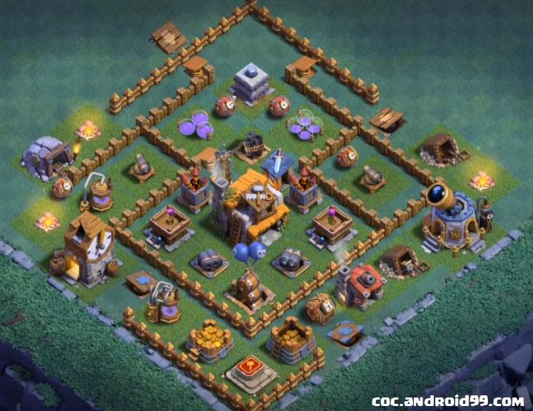 Base Coc Aula Tukang Level 5 Anti Bintang 6
