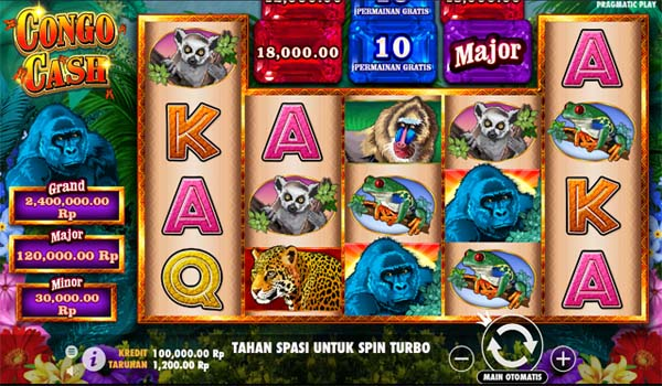 Main Slot Gratis Indonesia - Congo Cash (Pragmatic Play)