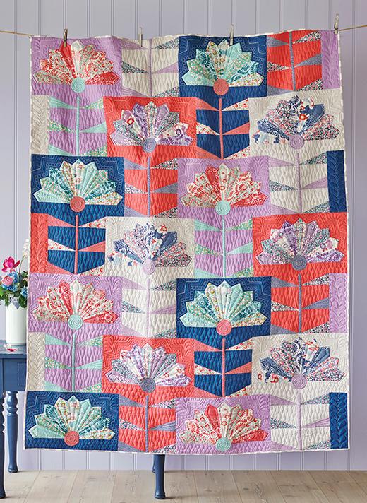 Fan Flower Quilt Free Pattern Designed By Tildas World