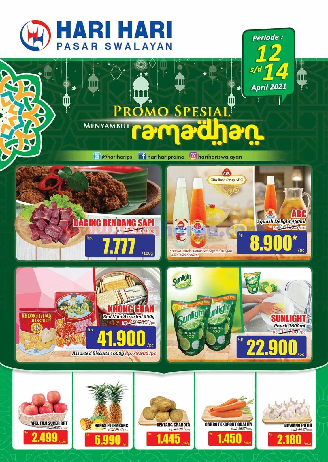 Promo Hari Hari Pasar Swalayan Spesial Ramadhan Periode 12-14 April 2021