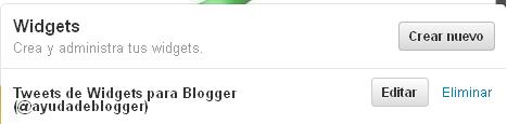 Widget de Twitter