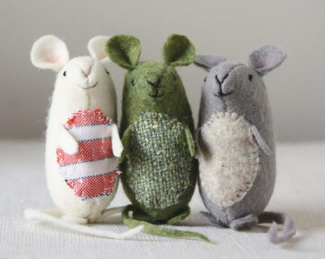 DIY ποντίκια απο τσόχα