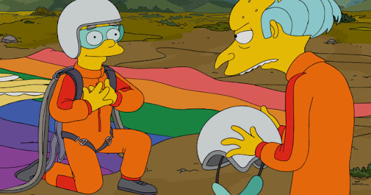 Guy Smiley's Guts: Congrats to Smithers on Finally Coming Out