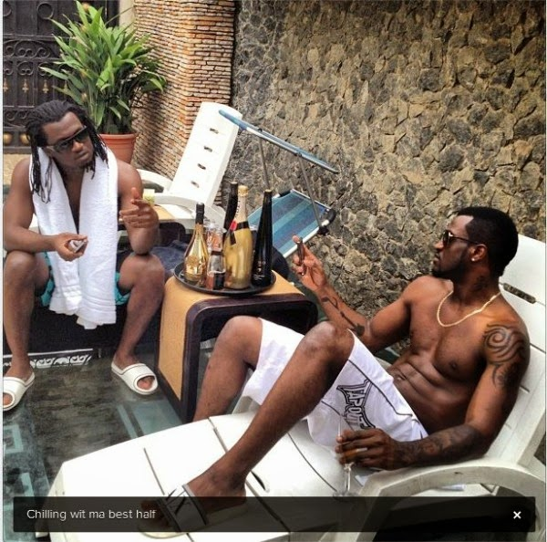 P-square's Paul and Peter fight gets Bloody, Peter left a mark on Paul's left eye,