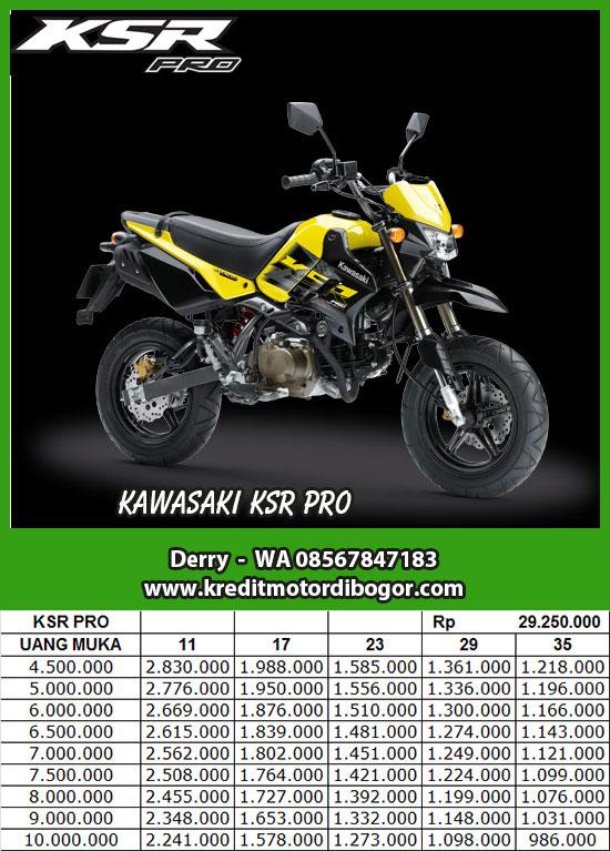 Daftar Harga Kawasaki KSR Pro di Bogor