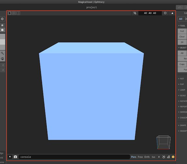 Editor Window in MagicaVoxel