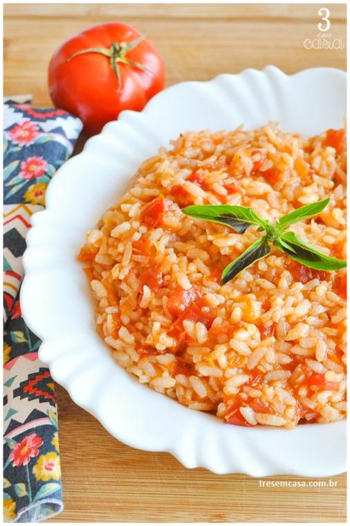 como fazer arroz de tomate malandrinho
