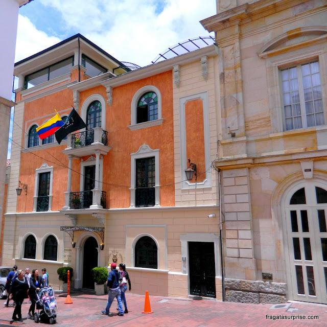 Fachada do Hotel de La Ópera, La Candelaria, Bogotá