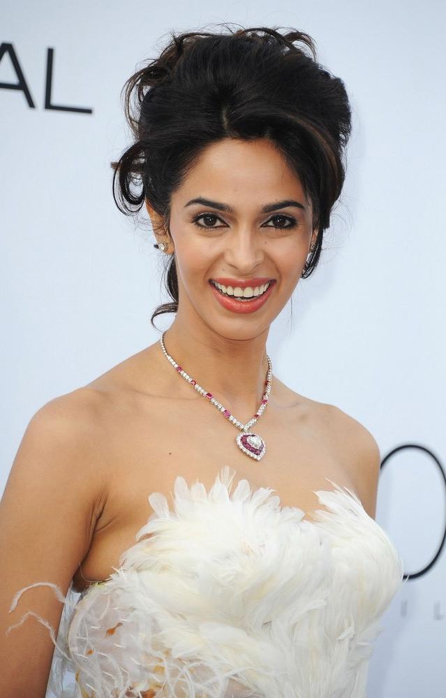 Mallika Sherawat Amfar Weinstein Cannes Film Festival Hot Cleavage