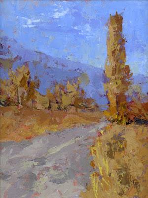 art painting landscape autumn fall color poplar