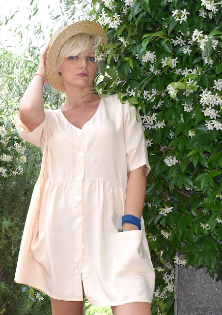 outfit abito camicia outfit color salmone abito arancio come abbinare l'abito camicia abito camicia come vestirsi per una scampagnata come vestirsi per una giornata in campagna mariafelicia magno fashion blogger colorblock by felym outfit estivi