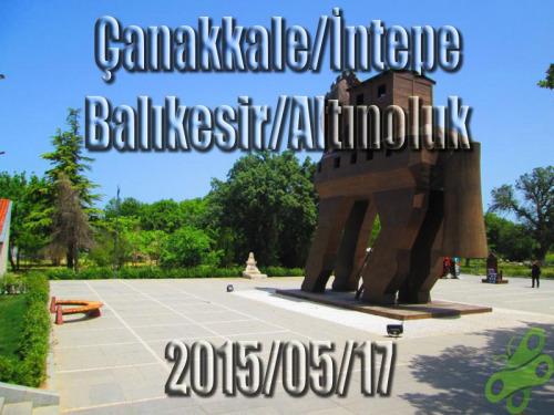 2015/05/17 Buralarda geziyorum bisiklet turu (BGBT) 3. Gün (Çanakkale/İntepe - Balıkesir/Altınoluk)