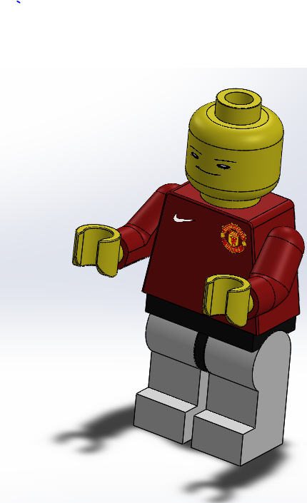 Lego Man Assignment: Engineering Drawings and Custom Appearances