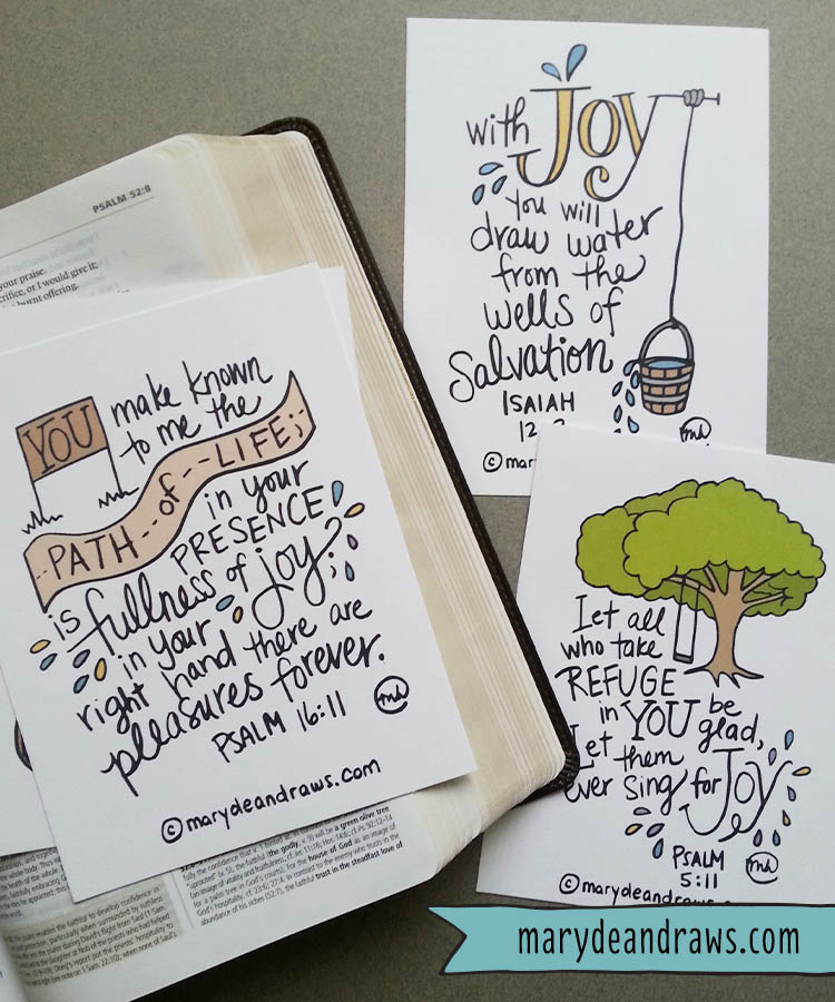 The JOY source + FREE printable Scripture cards - Marydean Draws