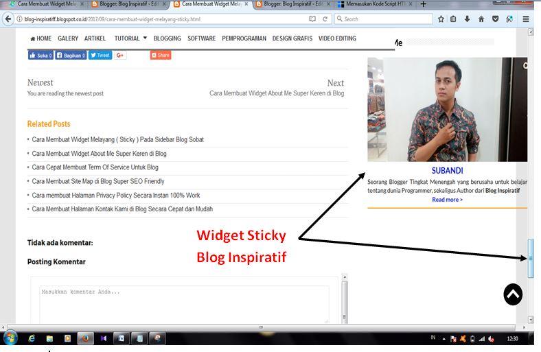 Cara membuat Widget Melayang part02