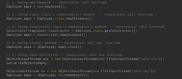 5-different-ways-of-object-creation-in-Java-with-example-and-explanation