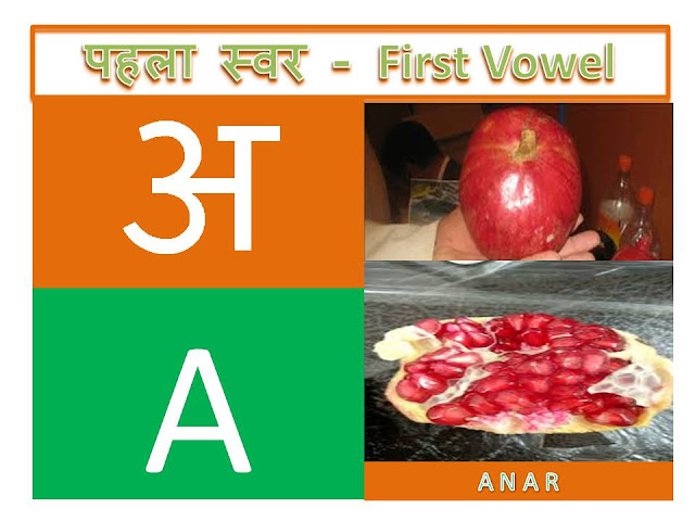 hindi alphabets with multiple pictures
