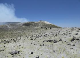 la zona sulfurea sull'etna