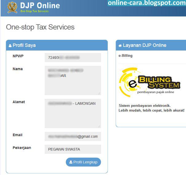 Cara Daftar Pajak Online E Filing ~ Cara Online