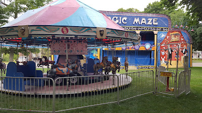 children's ride and Magic Maze on the Town Common
