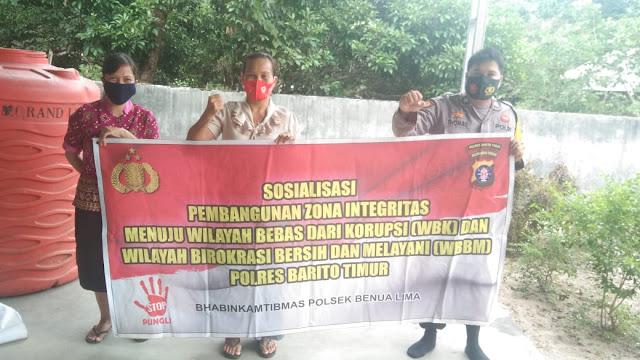 Personel Polsek Benua Lima Laksanakan Sambang ke rumah warga