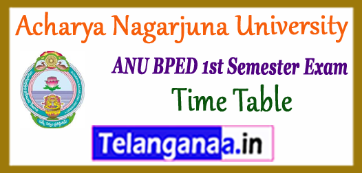 ANU BPED 1st Semester Exam Time Table 2018