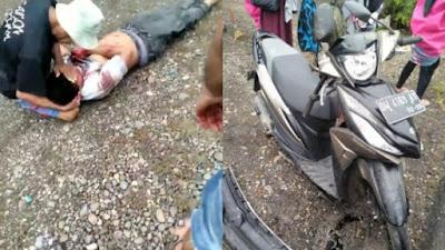 Pemotor di Corawali Bone Dilarikan ke Rumah Sakit Usai Ditabrak Mobil