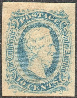 10c Jefferson Davis Confederate States Issue