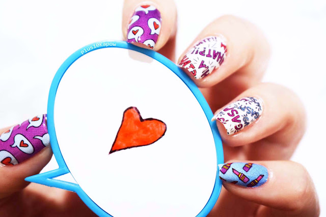 Best Friends Forever nail wraps from Espionage Cosmetics, designed by featured artist Jen Taylor.