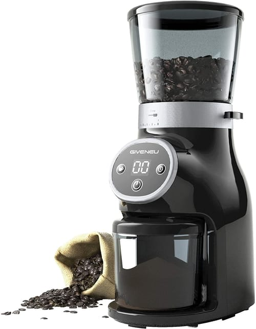 GIVENEU Electric Burr Mill Coffee Bean Grinder