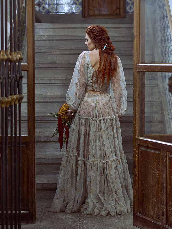 peinado novia pelo suelto con rizos 2020