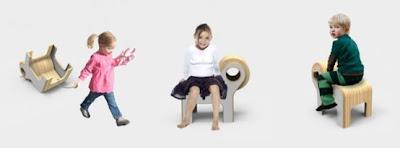 Silla diseñada para niños.